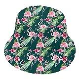 YIEASY Flamingo Army Green Bucket Hats Sun Beach Men Women Teen Girl Quick Dry Fashion Reversible Cute Novelty Stylish Fisherman Outdoor Pink Summer