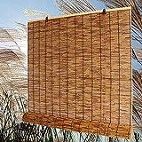 SJMFGF Persianas de bambú Natural Sombra de Rodillos, Tonos de Sol para al Aire Libre/Interiores, Cortina de caña Natural, UV Protección Impermeable Transpirable enrollar persianas