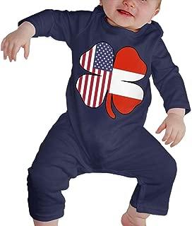Mri-le1 Baby Boy Organic Coverall American Austrian Flag Shamrock Baby Clothes