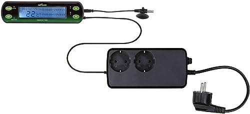 Trixie Thermostat Digital Deux Circuits pour Reptile, 16 x 4 cm