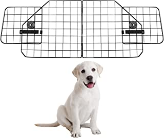 Dog Car Barriers—Heavy Duty Adjustable Wire Pet Cars Barrier with Front Seat Mesh in Black—Safety Travel Dividers Fence fo...