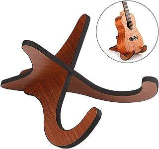 OurLeeme Soporte para guitarra Soporte para ukelele, Base plegable de madera portátil para guitarra Ukulele Violin Mandolin