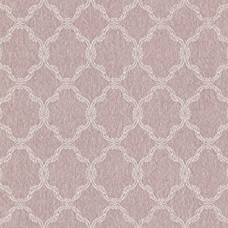 Beacon House 2614-21007 Daniela Filigree Trellis Wallpaper, Mauve