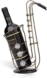 Tooarts Metal Sax Wine Rack Wine Bottle Holder
