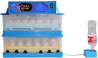 LIHM Chick Incubator, With Temperature Control LED Efficiency Lighting Low Noise Fully Automatic Home Incubator For Chicke...
