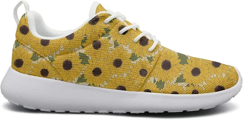 Women Cute Lightweight shoes Sneakers Sunflower Decorative Flower Canvas Upper Sport Lace-Up