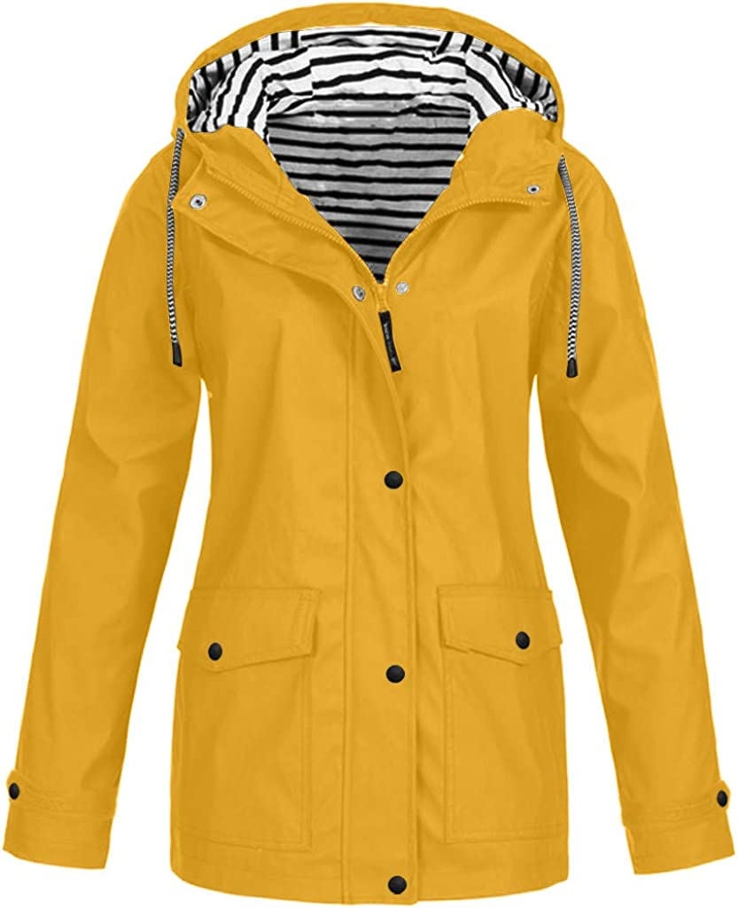 BZSHBS Shipping included Waterproof Jacket Women Long 2021 autumn and winter new Sleeve Coat Hooded Rain