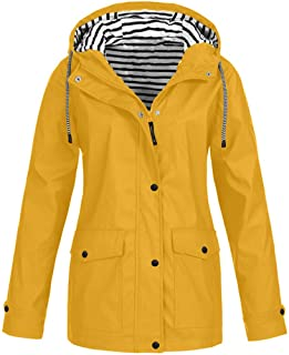 Plus Size Rain Jackets, Women Lightweight Zipper Jackets...