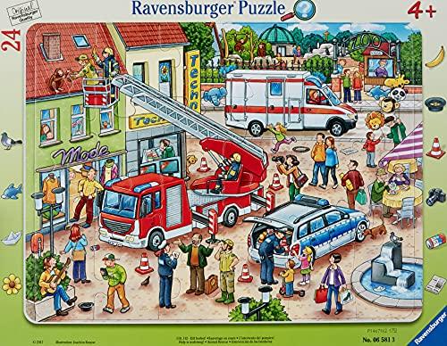 Ravensburger Kinderpuzzle - 06581 110, 112 - Eilt herbei! - Rahmenpuzzle für Kinder ab 4 Jahren, mit 24 Teilen