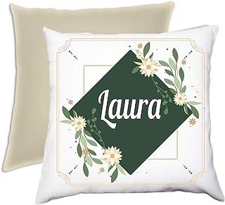 Cuscino personalizzato con foto completo di imbottitura 40 x 40 cm beige