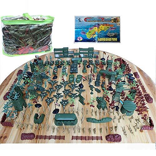 Army Toys Set, Army Men Play Emmer voor Militaire War Games Army Combat Game Toys Soldaat set met kaart (310 stuks)