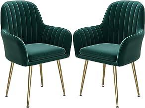 ZCXBHD Krzesła do jadalni, zestaw 2 sztuk, krzesło kuchenne, krzesło tapicerowane, krzesło do salonu, krzesło z oparciem, ...