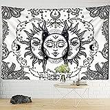 KHKJ Sun Moon Tarot Tapiz Colgante de Pared adivinación brujería Colcha de Playa Alfombra Bohemia Hippie Mandela decoración Familiar A13 150x130cm