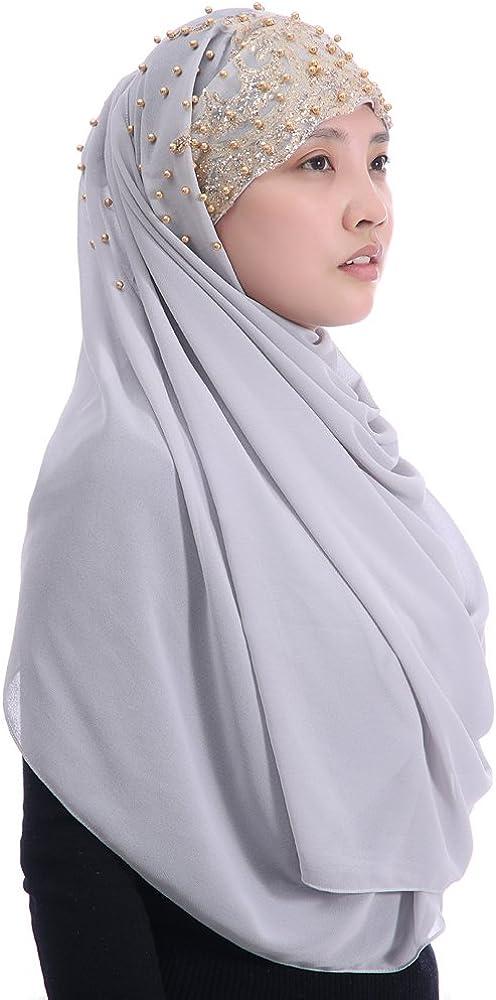 Lina /& Lily Muslim Hijab Kopftuch aus Chiffon mit Blumenmuster