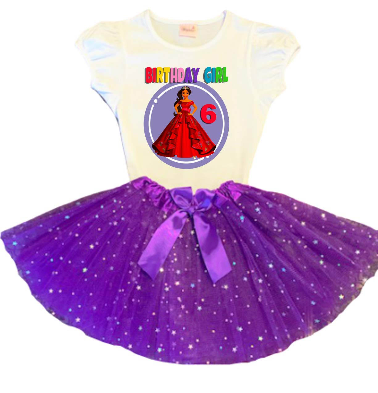 Elena of Avalor New product! New type Birthday Tutu Party 6th Dress Tu Super sale period limited Purple