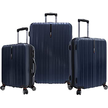Traveler's Choice Tasmania 100% Pure Polycarbonate Expandable Spinner Luggage, Navy
