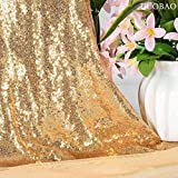 Sequin Fabric by The Yard Sparkly Fabric Gold Fabric for Sewing Sequence Material Fabric Little Mermaid Fabric Sequin Fabric Quilting Fabric Flip Sequin Fabric for Wedding Dress (1 Yard, Shiny Gold)