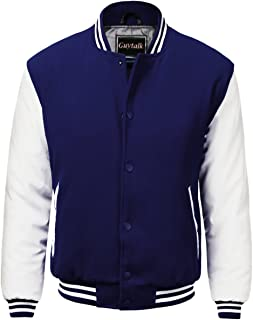 Men's Letterman Style Premium Thick Fabric Varsity Baseball Jacket