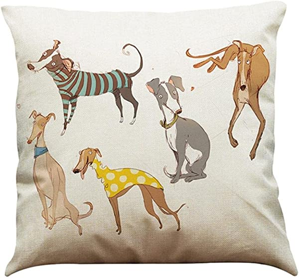 Pillow Cases IEason Clearance Sale Vintage Dog Cotton Pillow Case Sofa Waist Throw Cushion Cover Home Car Decor B