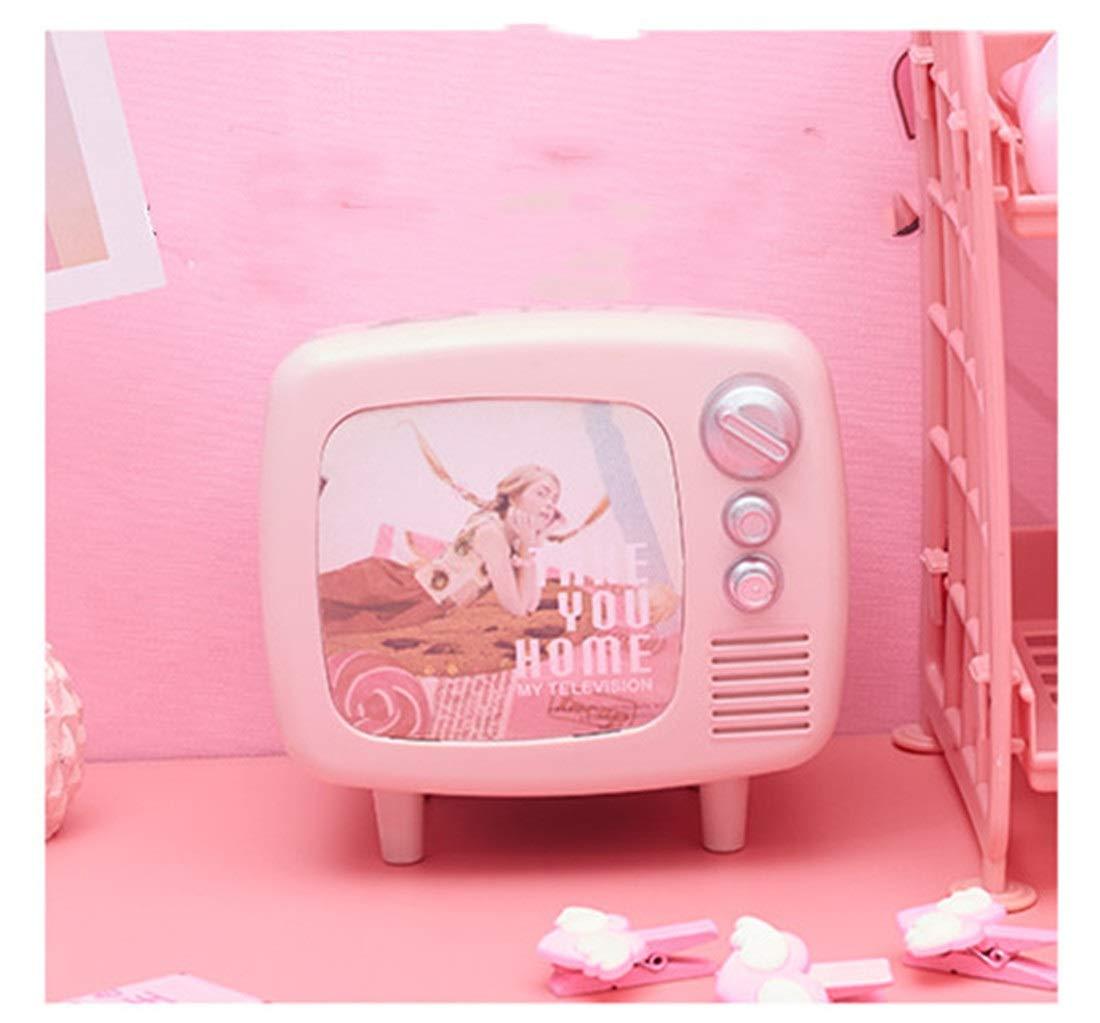 Songlin@yuan Retro Estilo Europeo y Americano TV Hucha Rosa niña Escritorio decoración decoración de la habitación Pantalla Hucha: Amazon.es: Hogar