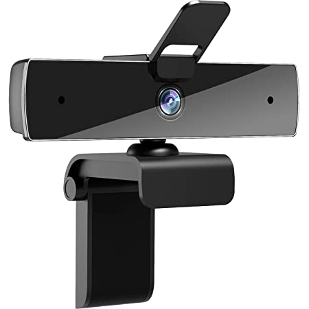 Webcam with Microphone and Privacy Cover, [Upgraded] Qtniue FHD Webcam 1080p, Desktop or Laptop and Smart TV USB Camera for Video Calling, Stereo Streaming and Online Classes
