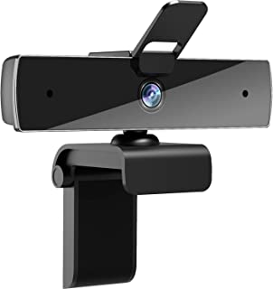 Webcam with Microphone and Privacy Cover, [Upgraded] Qtniue FHD Webcam 1080p, Desktop or Laptop and Smart TV USB Camera fo...