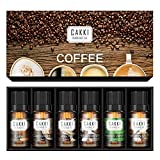 CAKKI Coffee Collection Essential Oils Set Of 6 x10ml, Premium Grade Fragrance Oils With Mocha,...