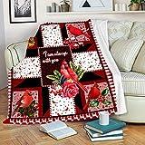 Cardinals Birds Sherpa Blanket Super Soft Throw Fleece Warm Blanket for Bedroom Couch Sofa Living Room