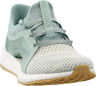 Women's Pureboost X Clima Running Shoe (8 B(M) US, Ash Green/Silver Met/White Tint)