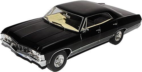 Grünlight Chevrolet Impala Sport Sedan 1967 Limousine SchwarzSupernatural 1965-1970 1 18 Modell Auto mit individiuellem Wunschkennzeichen