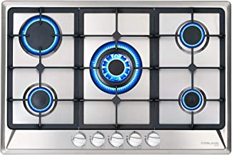 30 Euro Design Black Tempered Glass Built-in Kitchen 5 Burners Gas Hob Cooktops Ship from CA,US