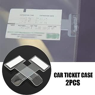 Niome 1Pair Car Invoice Ticket Clips Folder Vehicle Parking Ticket Permit Holder Windscreen Holder