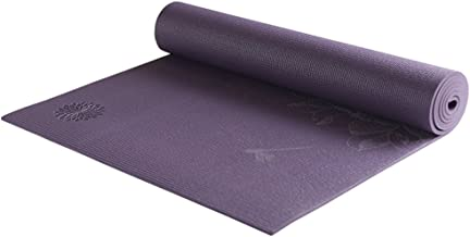 Thick Yoga Mat Antiskid Beginner Female Sports Fitness Skin Friendly Elastic PVC Yoga Mat 5mm (Color : Purple)