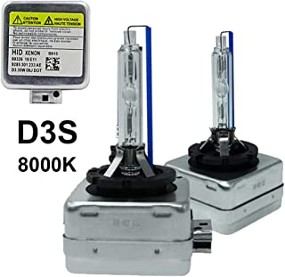 D3S - 8000K - 35WXenonHIDHeadlightReplacementBulbs,Dinghang HighAndLowBeamHidHeadlights(2pcs) (D3S, 8000K)