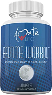 Bedtime Nocturnal Fat Burner - Nighttime Metabolism Booster- Amino Acids Source - Stimulates Metabolism While Sleeping - for Men & Women Made in USA by Amate Life