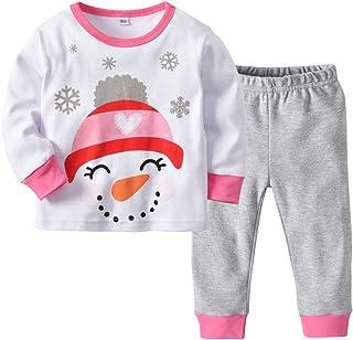 Conjuntos Ropa Bebé, 2 Piezas Niños Niña Manga Larga Monos Mameluco Ropa Recien Nacido Tops Pantalones Navidad Halloween Pijama Trajes