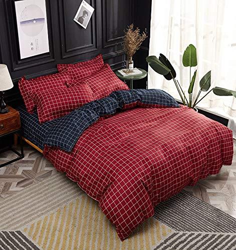 NKJSANFOI Nordic Simple Bedding Set Adult Duvet Cover Sets Bedclothes Bed Linen Sheet Single Double Queen King size Qulit Covers