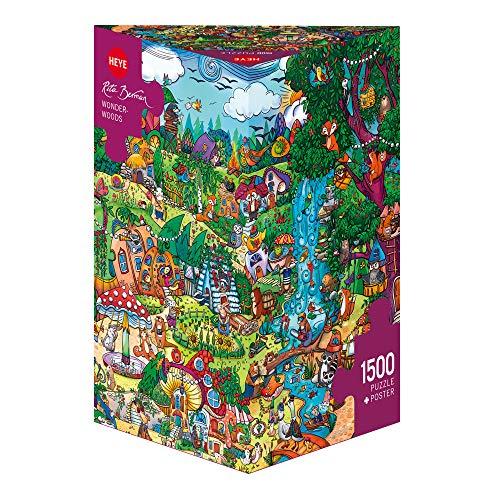 HEYE 29792 - Wonderwoods Triangular, Rita Berman, inklusiv Poster, 1500 Teile Puzzle