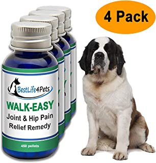 BestLife4Pets Walk-Easy Hip and Joint Supplement for Dogs and Cats - Powerful Anti-inflammatory Support and Proven Arthritis Pain Relief Pills - All Natural, No Bad Stuff, Easy to Give Your Pet