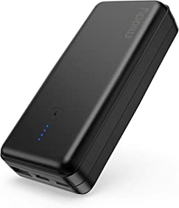 Ultra Compact Portable Charger 10000mAh, Miady USB C Battery Pack Power Bank with 5V/2.4A Dual Output Fast Charge, Compatible with iPhone, iPad, Samsung, LG and etc