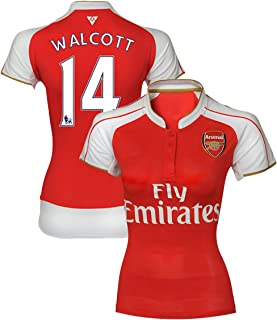 New Season Football Jersey ARSENAL #14 THEO WALCOTT Womens Soccer Home Jersey