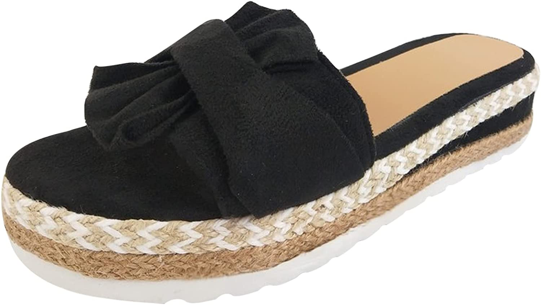 Sandals for Women, Comfy Shining Diamond Roman Shoes Casual Summer Beach Travel Indoor Outdoor Flip Flops Slipper (Black #, numeric_7)
