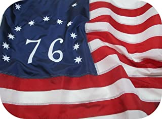 Bennington Flag 3x5 ft - Beautiful, Durable, All Weather Nylon, Fully Sewn Vibrant Stripes and Embroidered Stars and Number - UV Resistant 100% Made in The USA