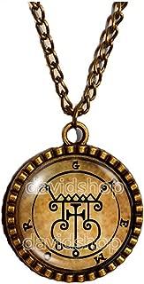 Seal Sigil Of Gremory Necklace Pendant Fashion Jewelry Lesser Key Of Solomon Goetia Demon Sigils Symbol Art Cute Gift Cosplay Charm