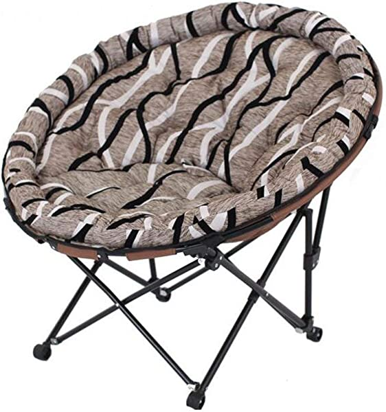 Carl Artbay Footstool Dark Gray Black And White Striped Seat Cover Folding Chair Individual Moon Chair Lounge Chair Lunch Break Sleeping Couch Home