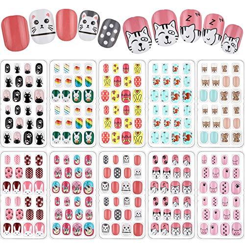 240 Pieces Children False Nails Kids...