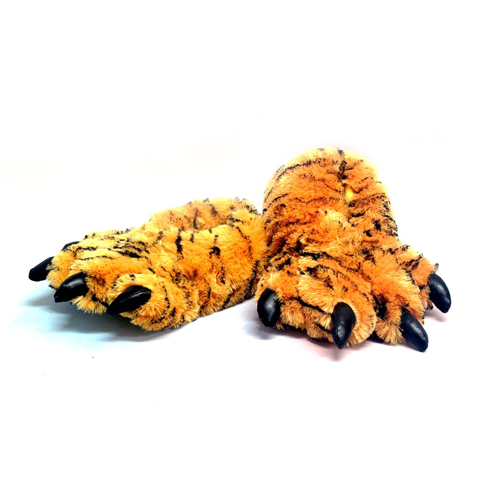 Image of Furry Tiger Claw Slippers for Men