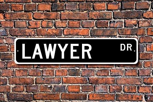 Anwalt, Anwälteschild, Anwalt, Geschenk, Anwalt, Anwalt, Anwalt oder Büro Dekoration, personalisiertes Straßenschild, Metallschild, 10,2 x 45,7 cm