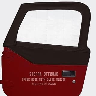 Sierra Offroad Upper Door Skins for 1997-2006 Jeep Wrangler, Diamond Vinyl, Black
