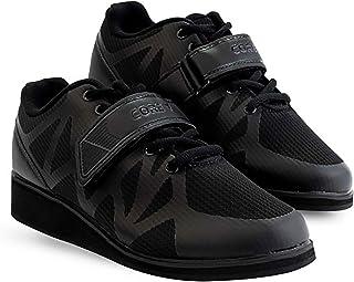 Core Chaussures d'Haltérophilie, de Powerlifting et de Bodybuilding, de Squat – Antidérapante, avec Talon de 3cm – Noir